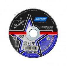 Отрезной круг 125мм Norton серии StarLine - мет./нерж