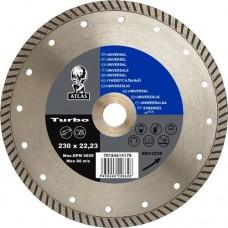 Алмазный отрезной круг ATLAS TURBO - универсальный