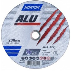 Круг отрезной A46Q-230x1.9x22.23-T41 Norton Alu