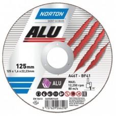 Круг отрезной A46Q-125x1.0x22.23-T41 Norton Alu