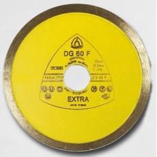 Профессиональный алмазный отрезной диск DG 60 F Klingspor Extra